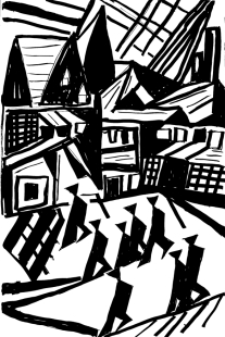 forrest_german_expressionism_revisted_lyonel_feininger_2_ink_2014